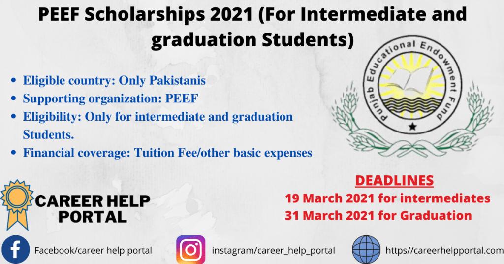 PEEF Scholarships 2021