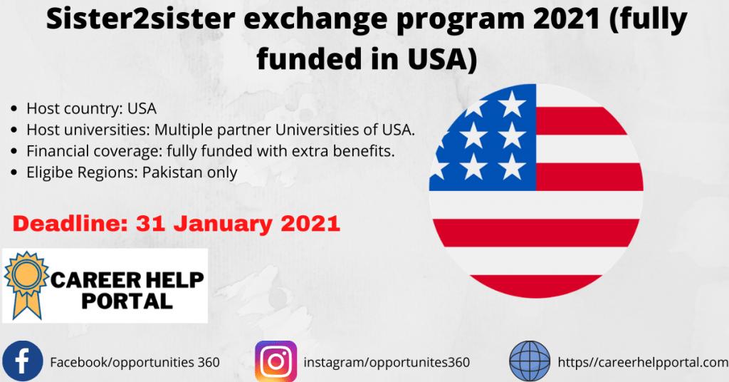 Sister2sister exchange program 2021