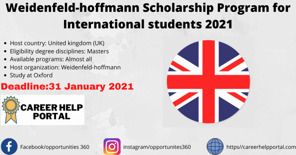 weidenfeld-hoffmann scholarship program 2021