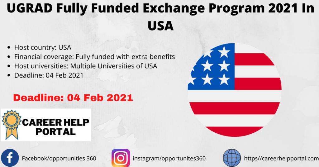 UGRAD Fully Funded Exchange Program 2021 In USA