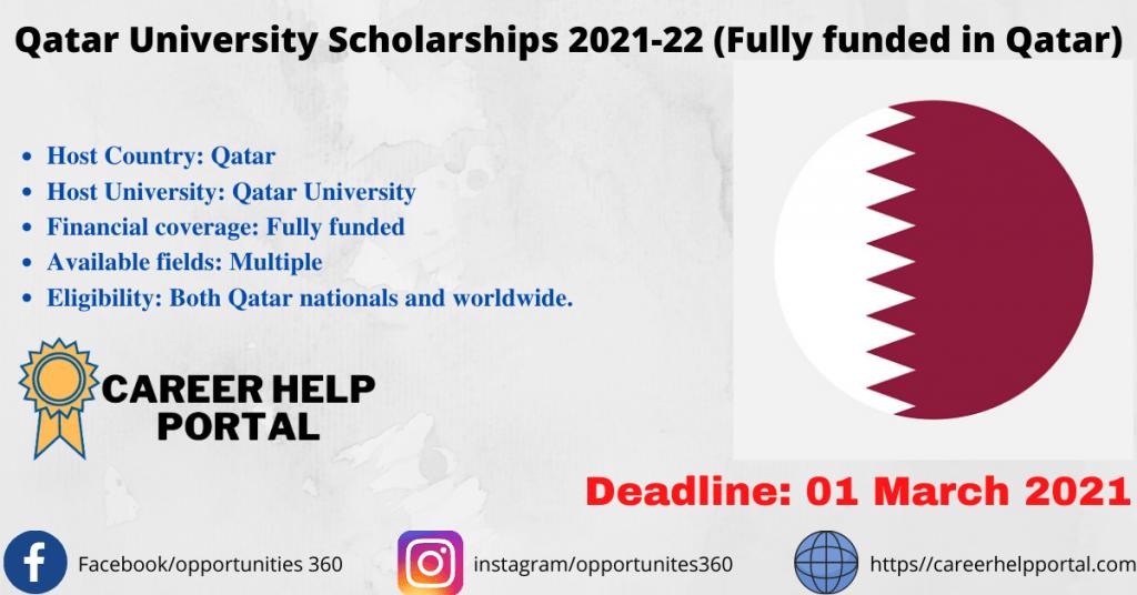 Qatar University Scholarships 2021-22 (Fully funded in Qatar)