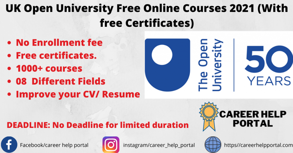 UK Open University Free Online Courses 2021 (With free Certificates)