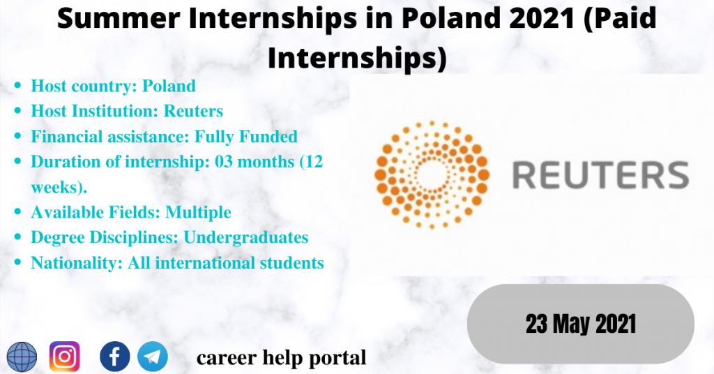 Summer Internships in Poland 2021 (Paid Internships)