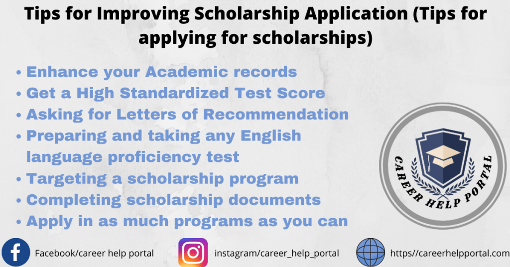 Tips for Improving Scholarship Application (Tips for applying for scholarships)