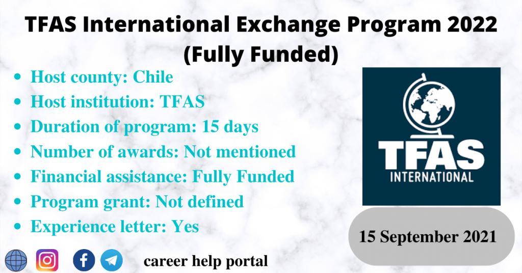 TFAS International Exchange Program 2022 (Fully Funded)