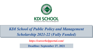 KDI School of Public Policy and Management Scholarship 2021-22 (Fully Funded)